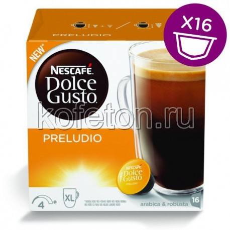 Dolce Gusto PRELUDIO, 16 капсул